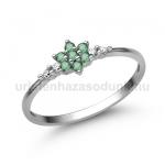 E306FS Smaragd gyűrű