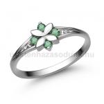 E308FS Smaragd gyűrű