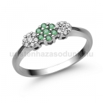 E314FS Smaragd gyűrű