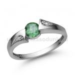 E324FS Smaragd gyűrű