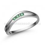 E329FS Smaragd gyűrű