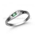 E337FS Smaragd gyűrű