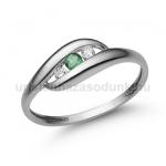 E340FS Smaragd gyűrű