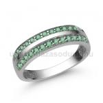 E341FS Smaragd gyűrű