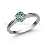 E347FS Smaragd gyűrű