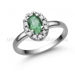 E348FS Smaragd gyűrű