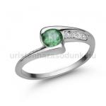 E349FS Smaragd gyűrű