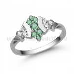 E350FS Smaragd gyűrű