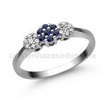 E314FZK Zafír gyűrű